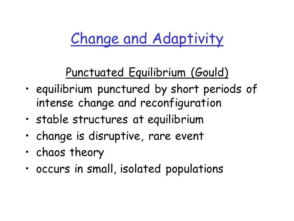 Punctuated Equilibrium (Gould)