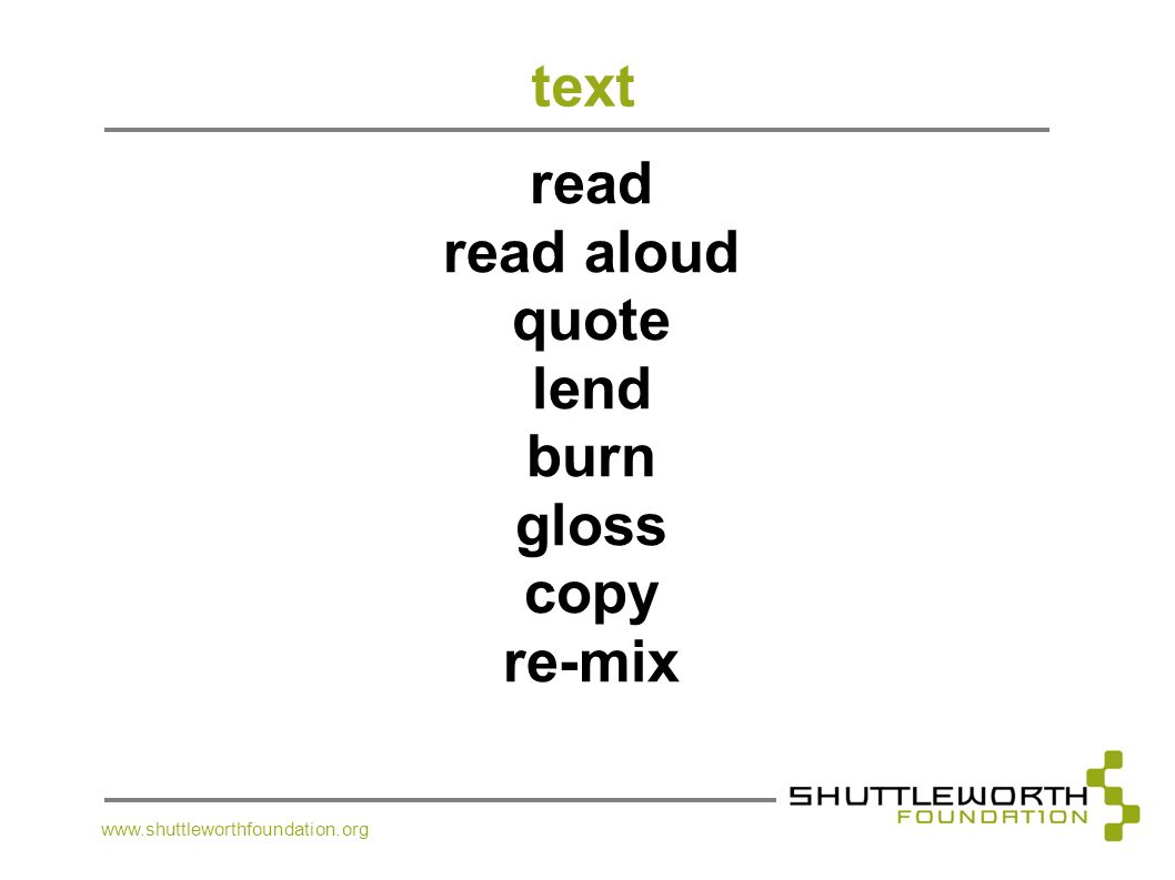 text read read aloud quote lend burn gloss copy re-mix
