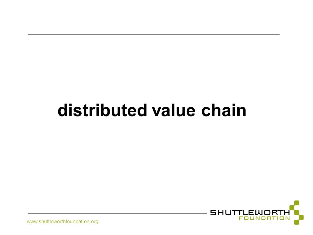 distributed value chain