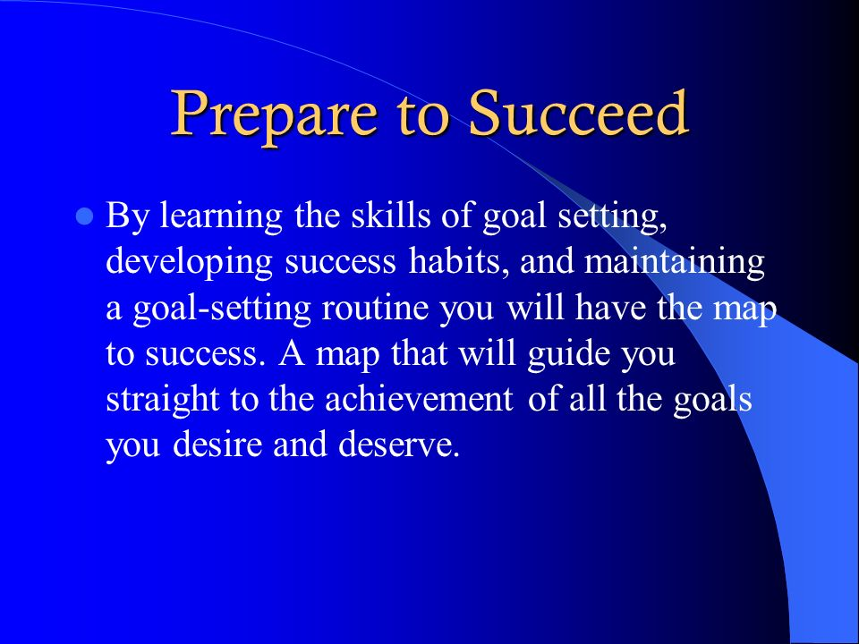 Prepare to Succeed