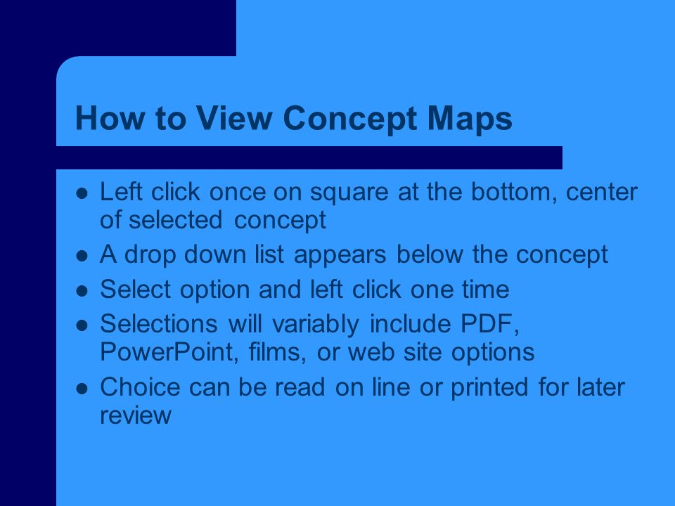How to View Concept Maps