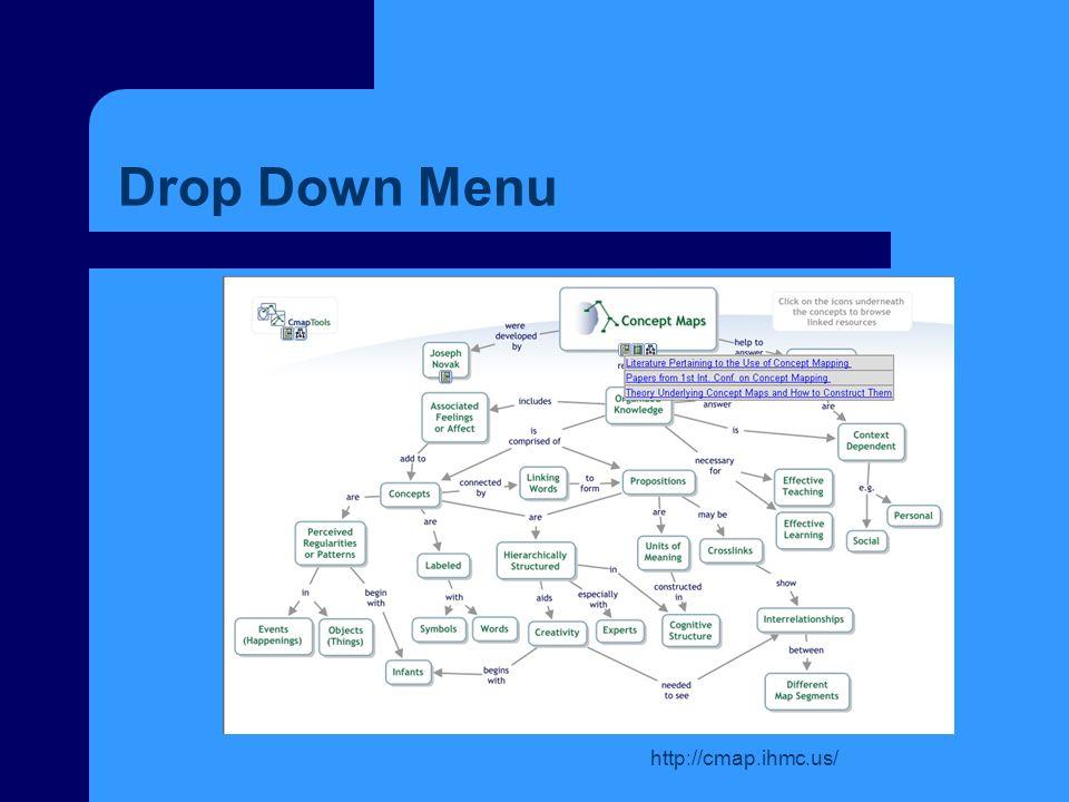 Drop Down Menu http://cmap.ihmc.us/