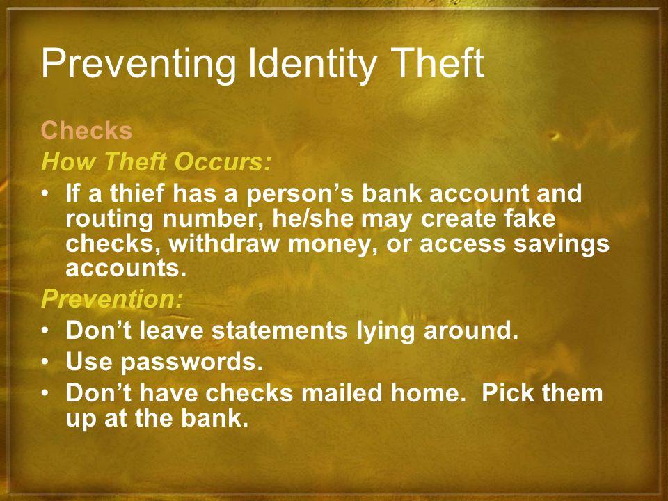Preventing Identity Theft