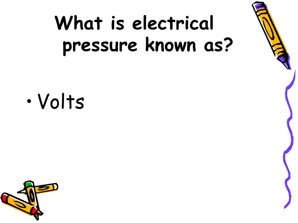 What is electrical pressure known as