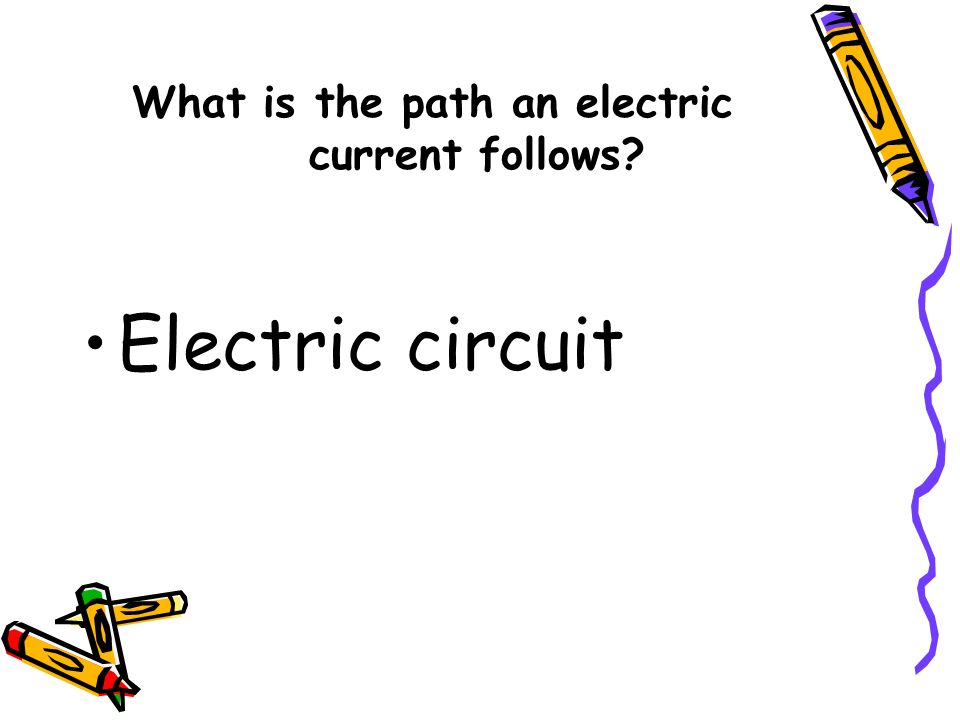 What is the path an electric current follows