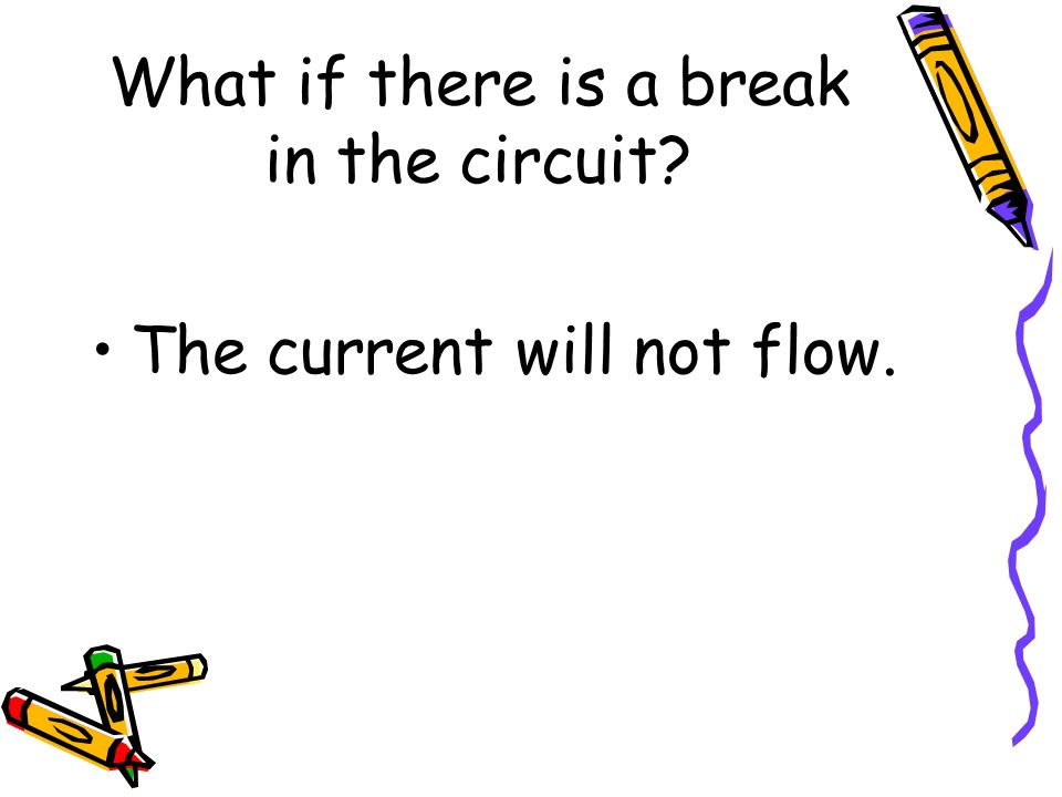 What if there is a break in the circuit