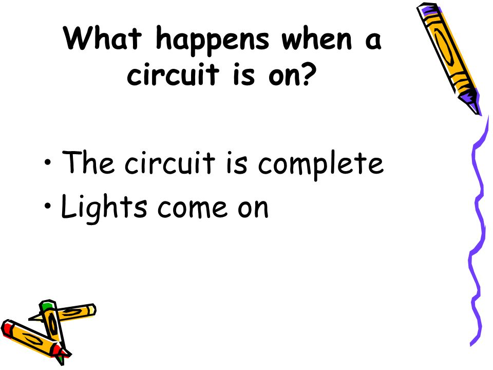 What happens when a circuit is on