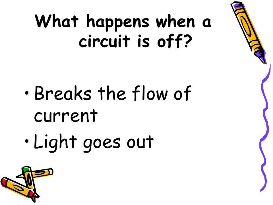 What happens when a circuit is off