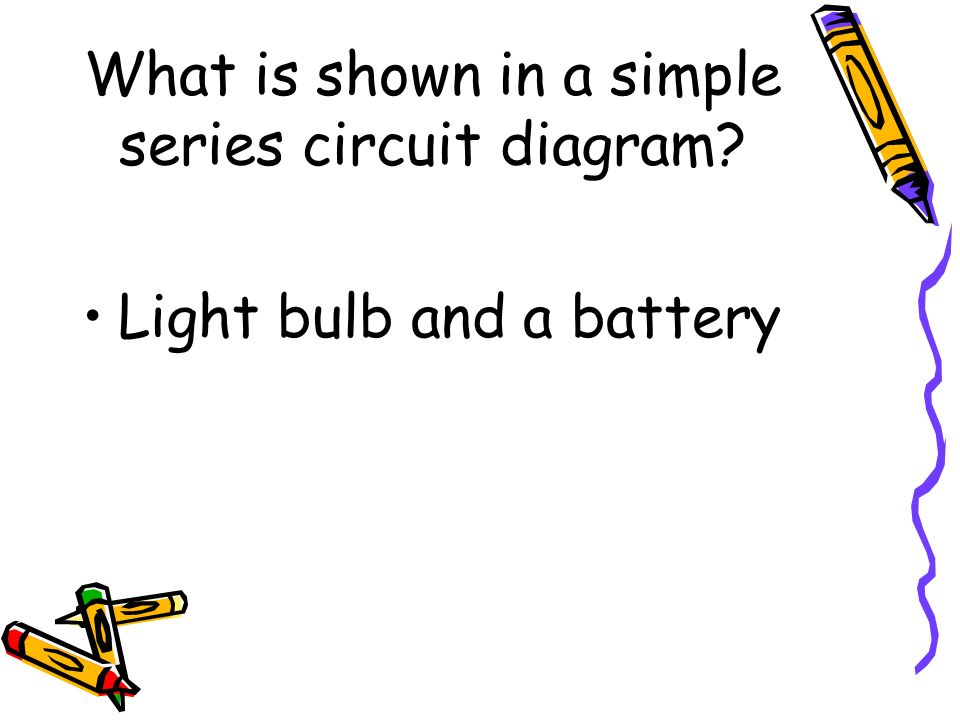 What is shown in a simple series circuit diagram