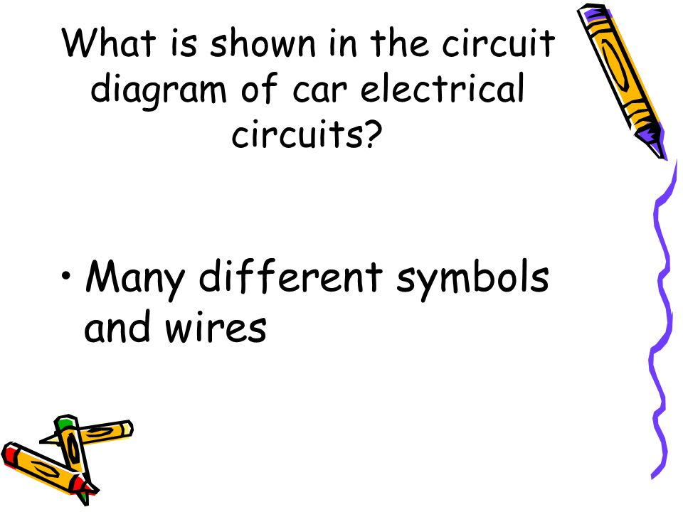What is shown in the circuit diagram of car electrical circuits