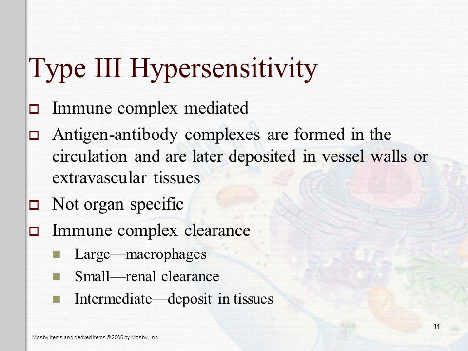 Type III Hypersensitivity