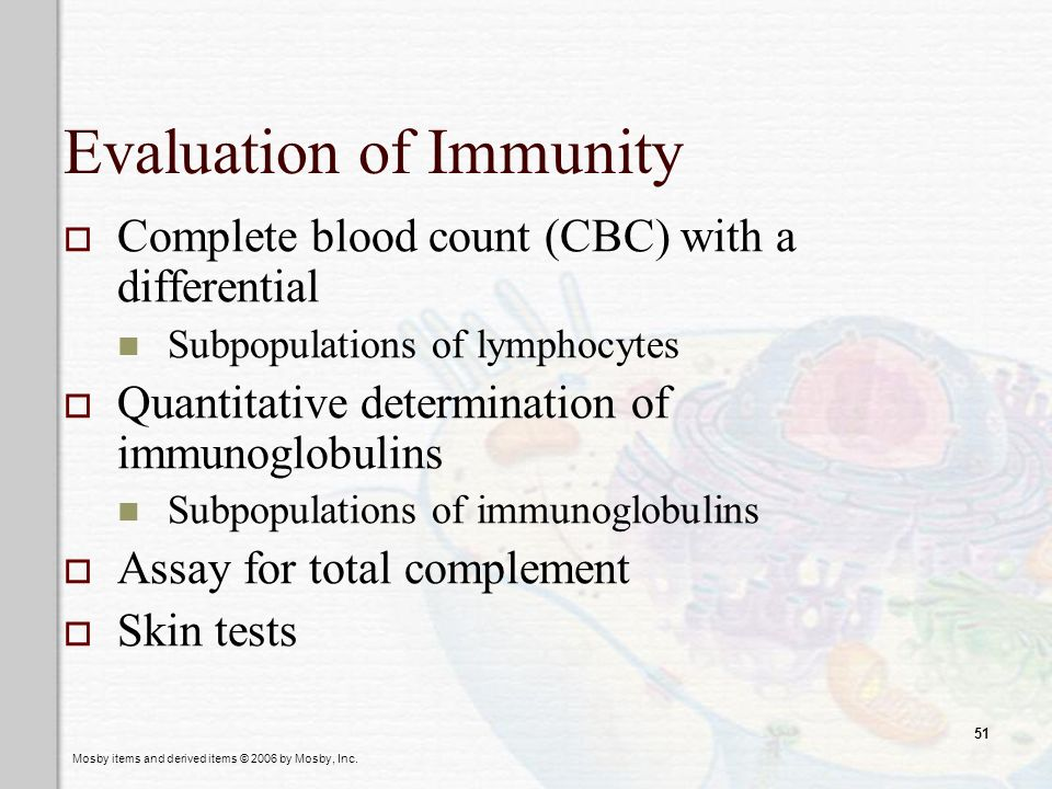 Evaluation of Immunity
