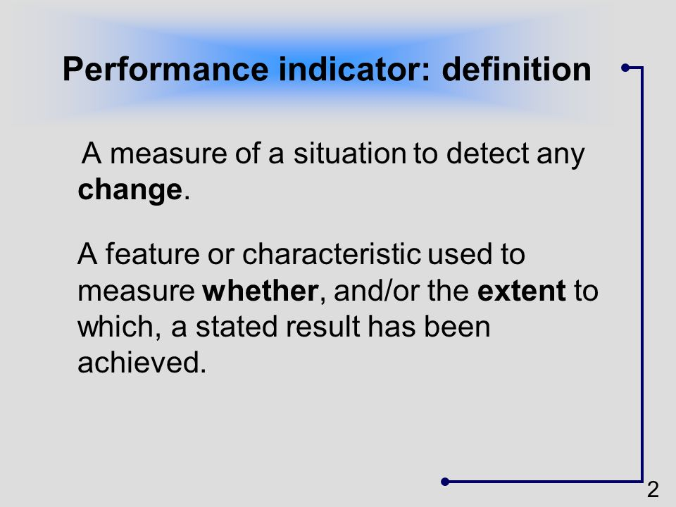 Performance indicator: definition