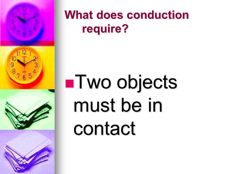What does conduction require