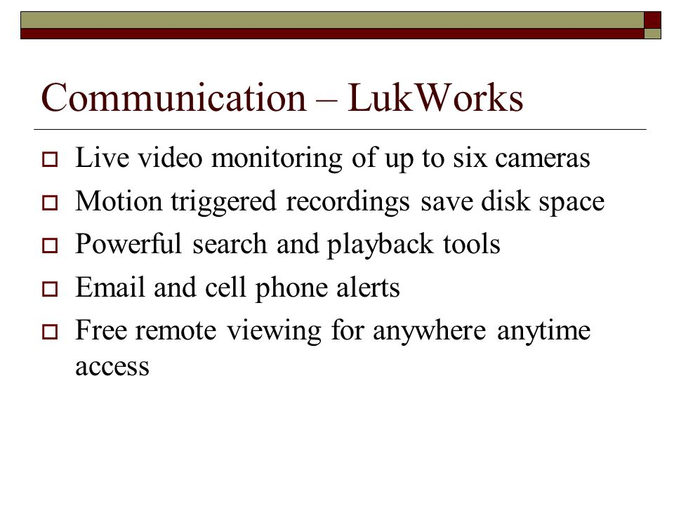 Communication – LukWorks