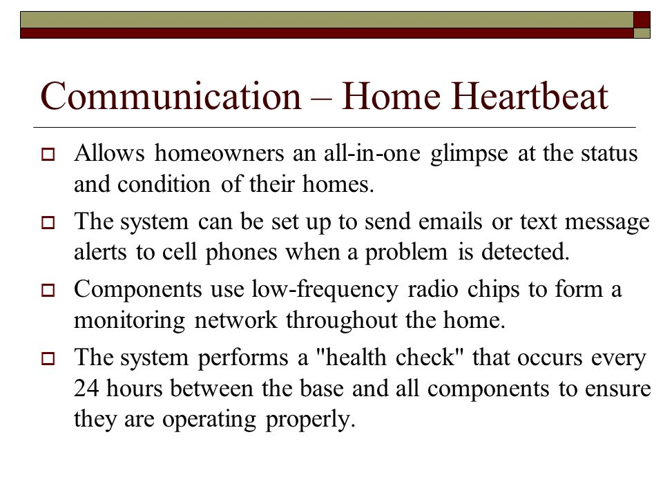 Communication – Home Heartbeat