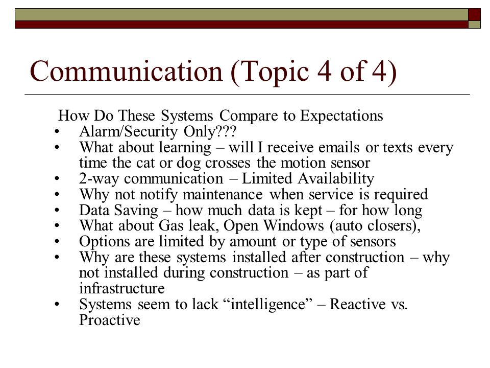 Communication (Topic 4 of 4)