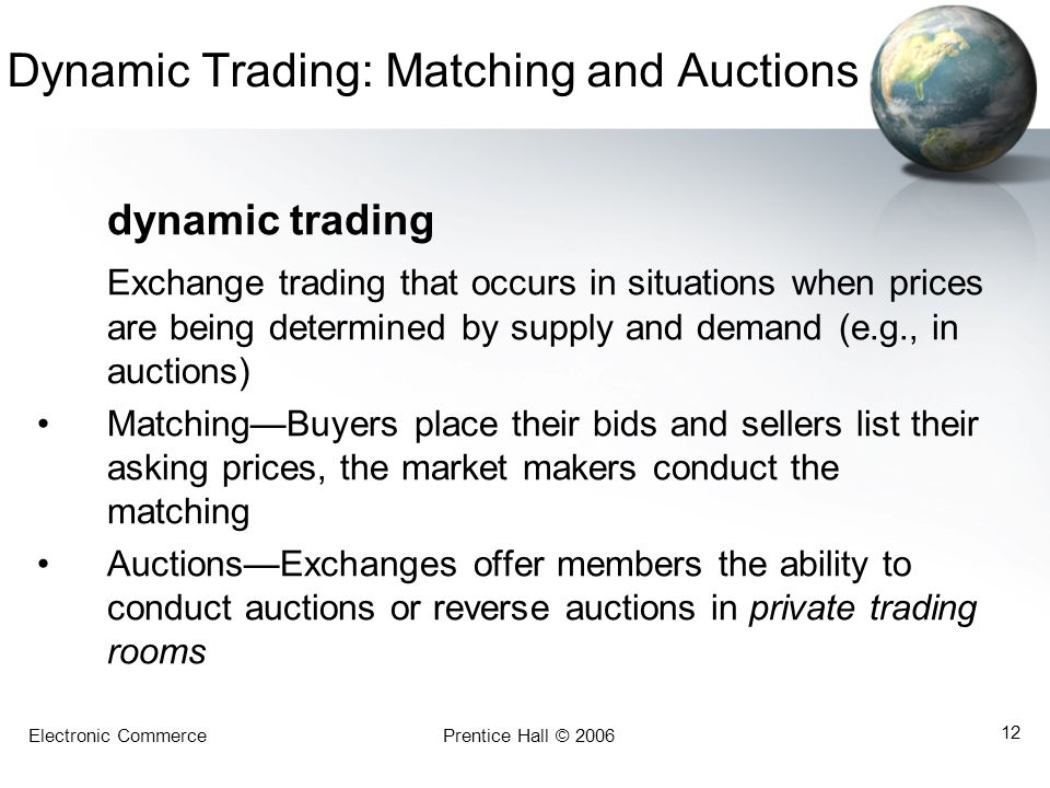 Dynamic Trading: Matching and Auctions