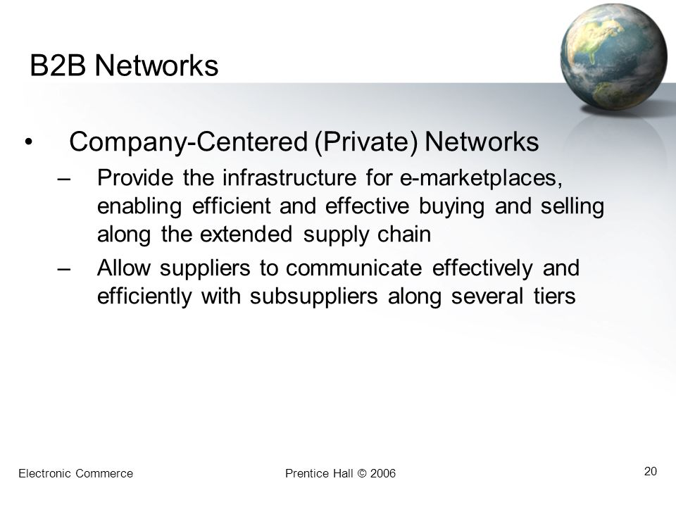 B2B Networks Company-Centered (Private) Networks
