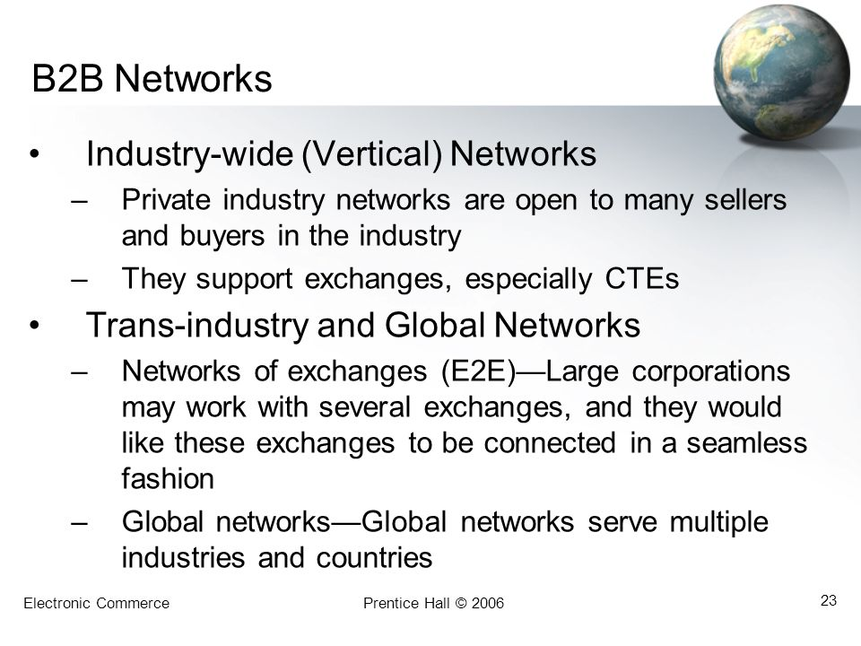 B2B Networks Industry-wide (Vertical) Networks