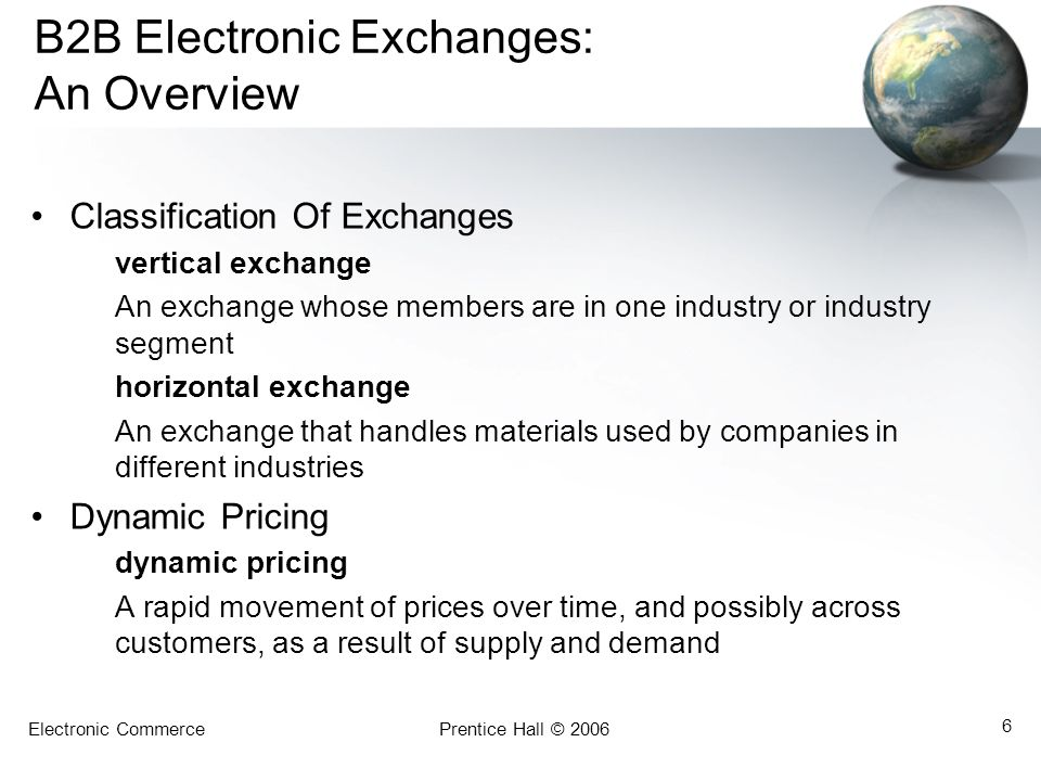 B2B Electronic Exchanges: An Overview