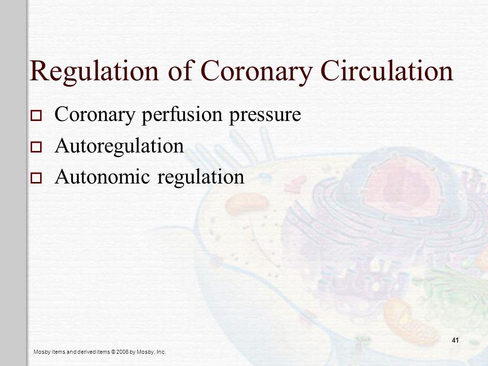 Regulation of Coronary Circulation
