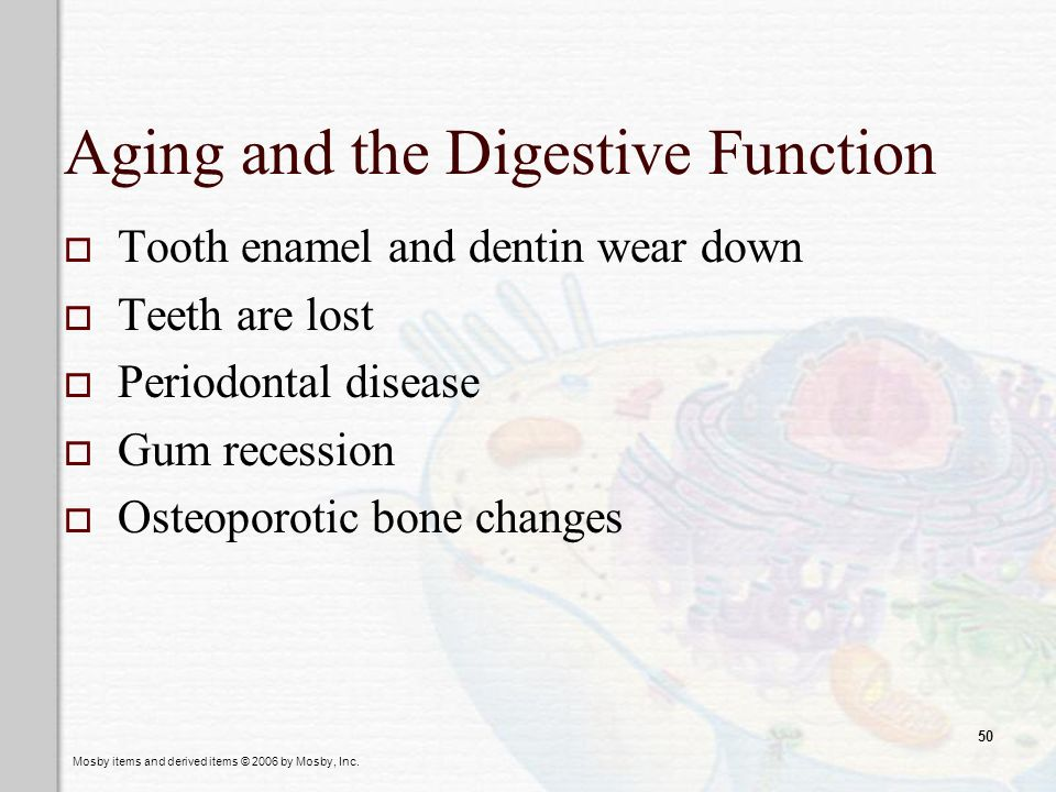 Aging and the Digestive Function