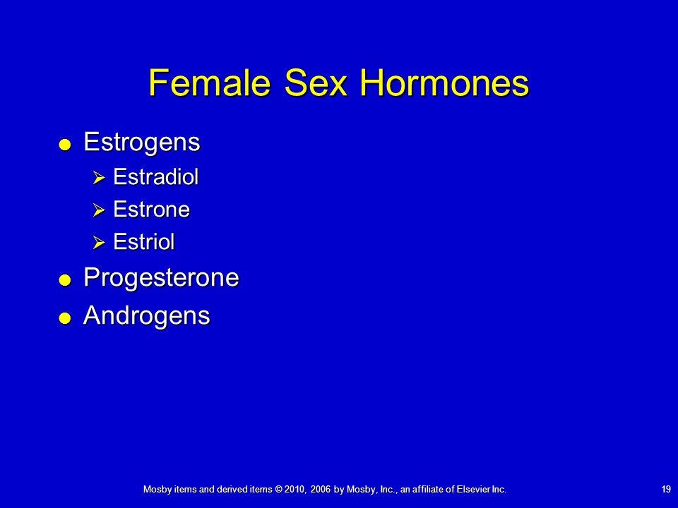 Female Sex Hormones Estrogens Progesterone Androgens Estradiol Estrone