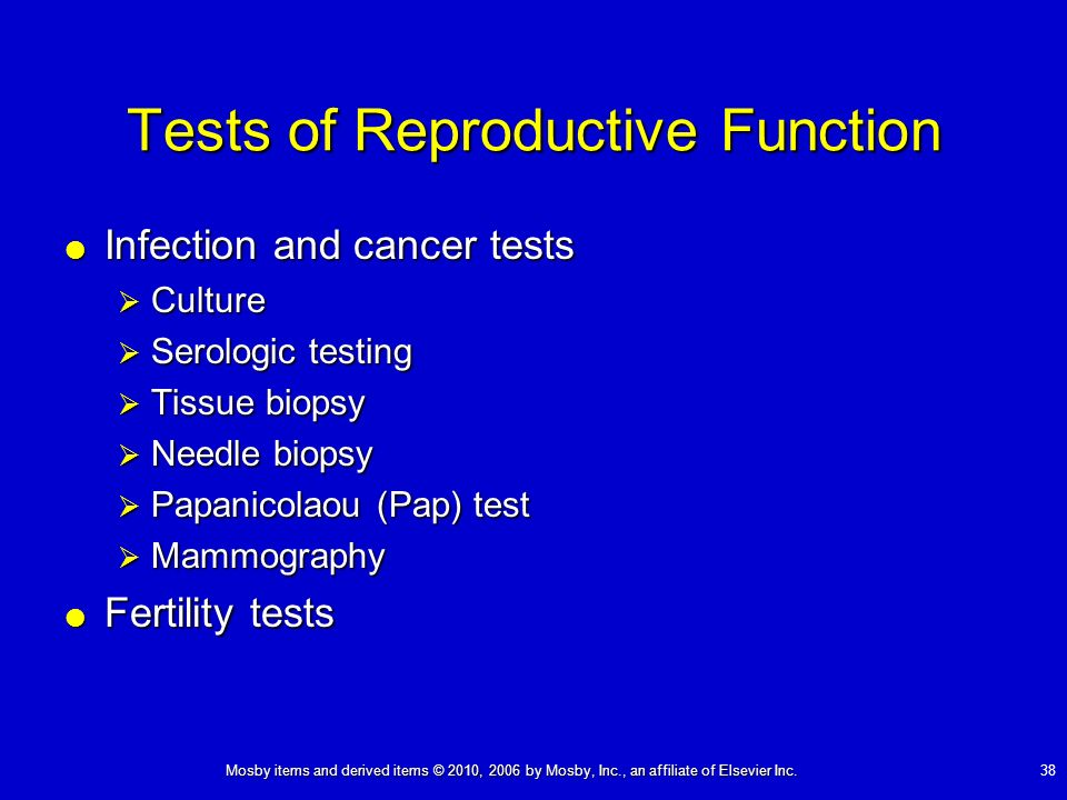 Tests of Reproductive Function