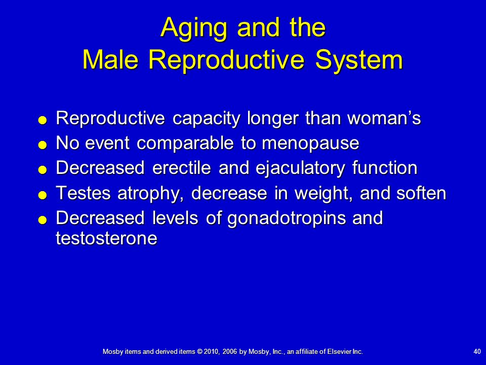 Aging and the Male Reproductive System