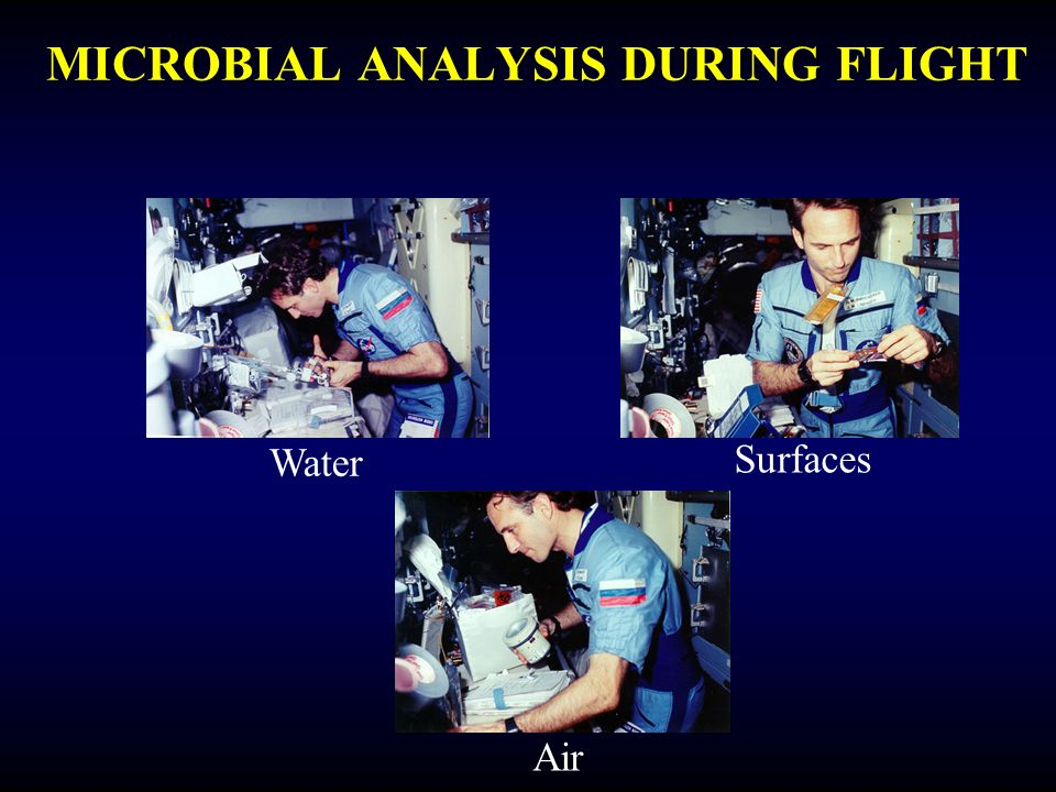 MICROBIAL ANALYSIS DURING FLIGHT