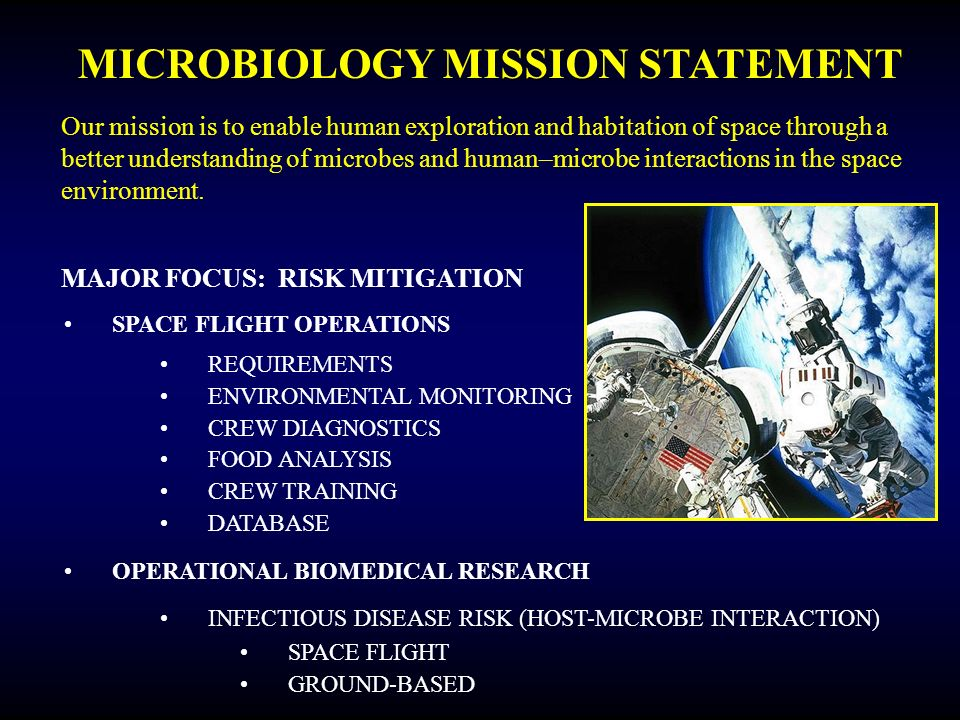 MICROBIOLOGY MISSION STATEMENT