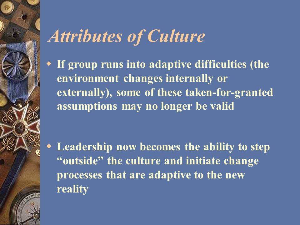 Attributes of Culture