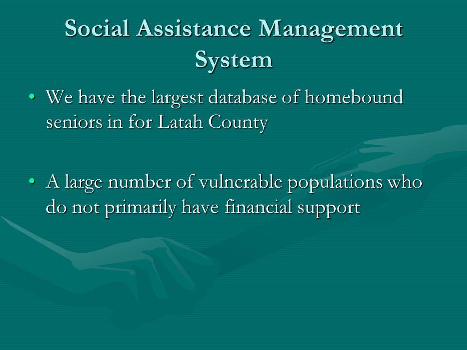 Social Assistance Management System
