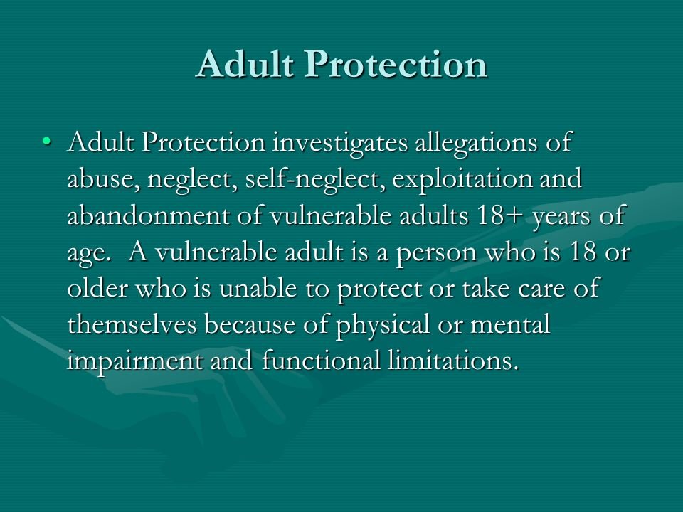 Adult Protection