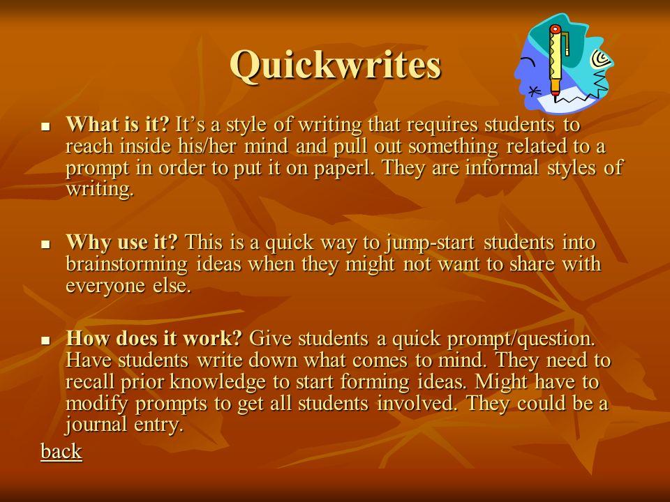 Quickwrites