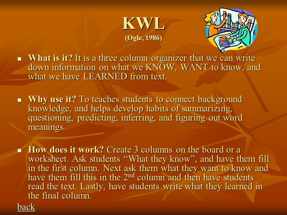 KWL (Ogle, 1986)