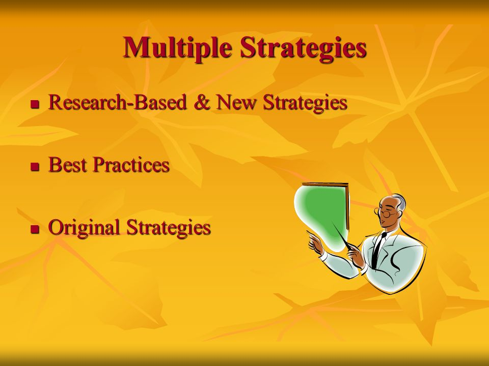 Multiple Strategies Research-Based & New Strategies Best Practices