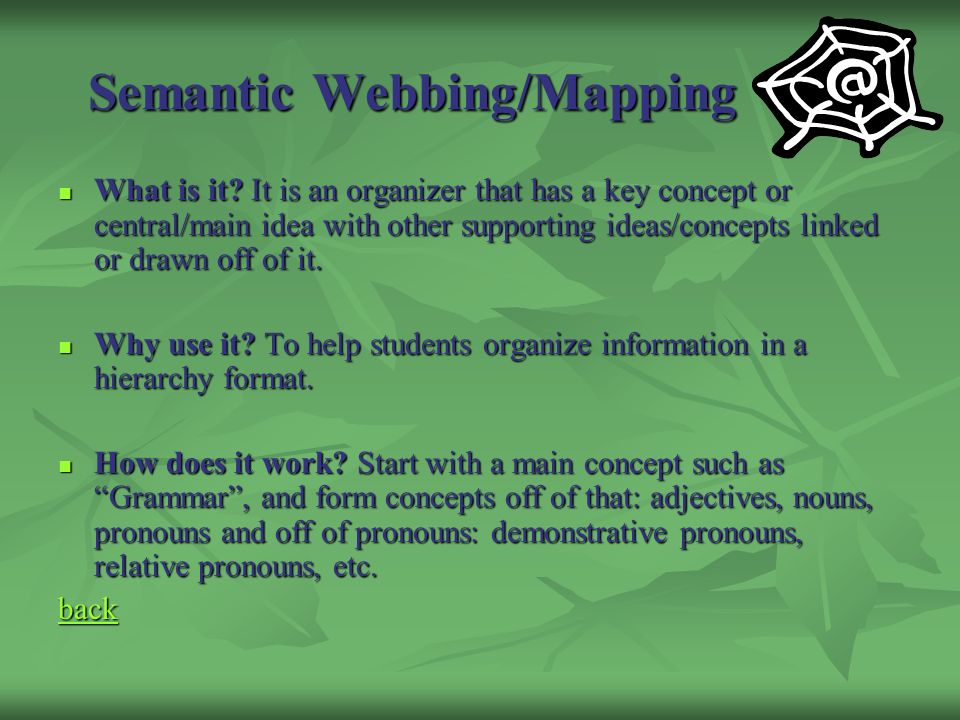 Semantic Webbing/Mapping