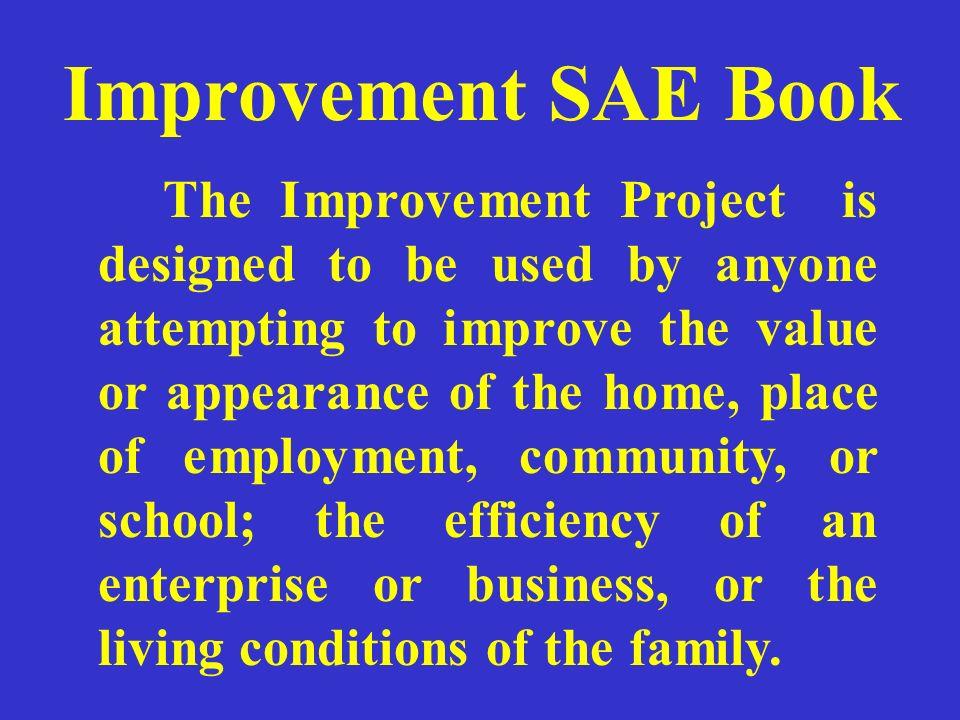 Improvement SAE Book