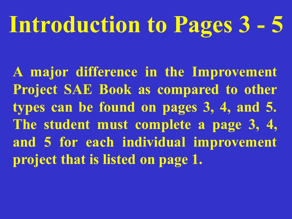 Introduction to Pages 3 - 5