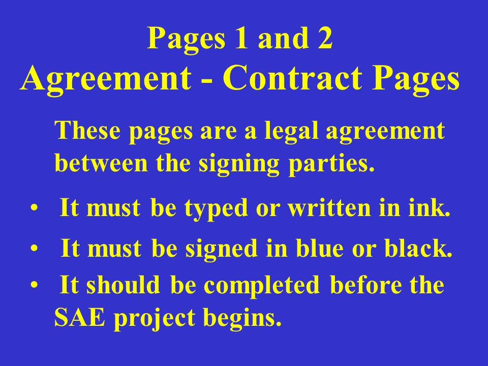 Agreement - Contract Pages