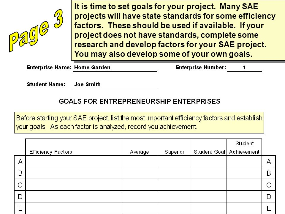 It is time to set goals for your project