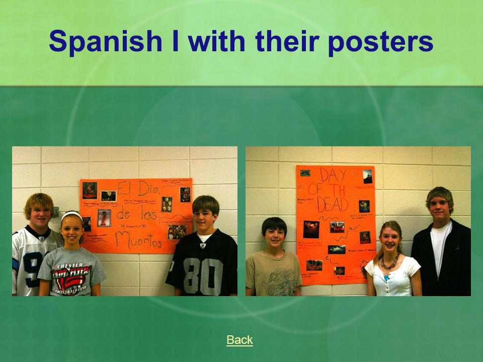 Spanish I with their posters