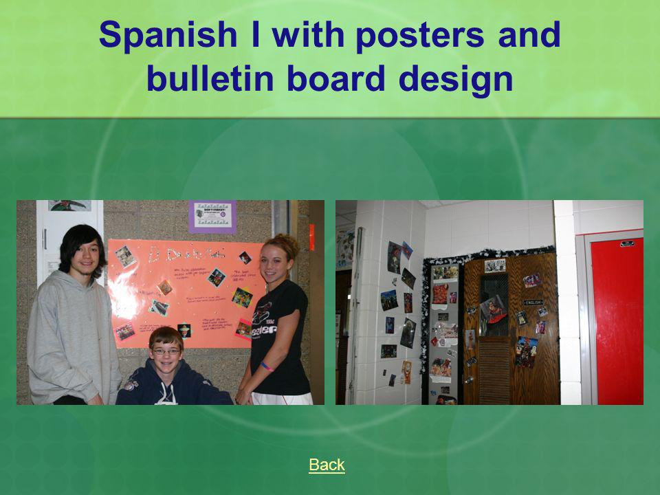 Spanish I with posters and bulletin board design