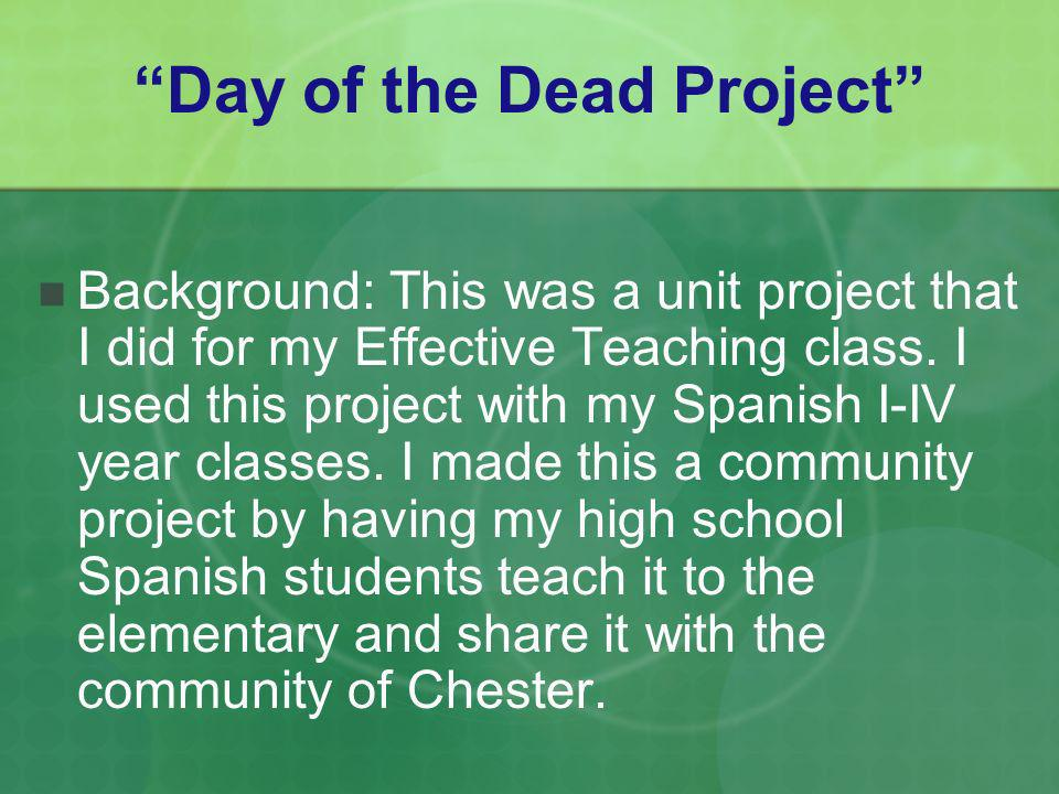 Day of the Dead Project