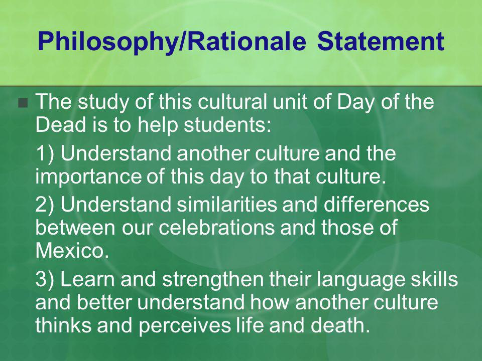 Philosophy/Rationale Statement
