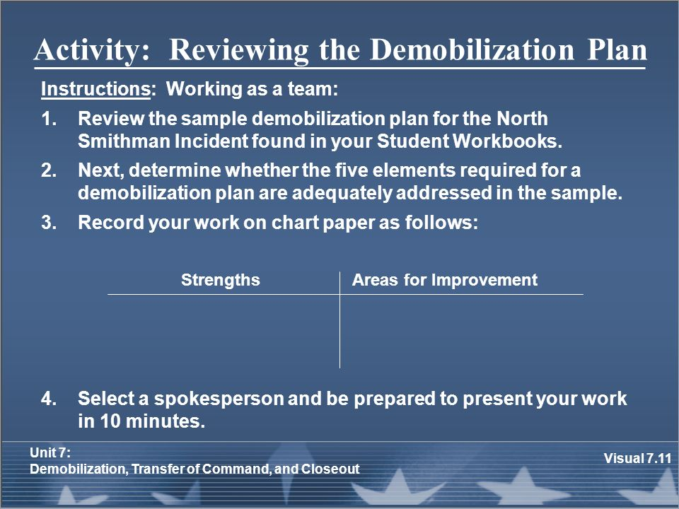 Awesome Demobilization Plan Template Contemporary - Example Resume ...