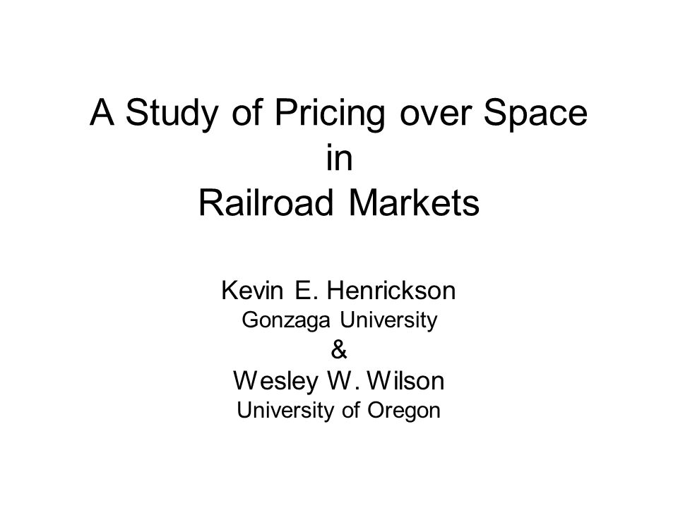 A Study of Pricing over Space in Railroad Markets