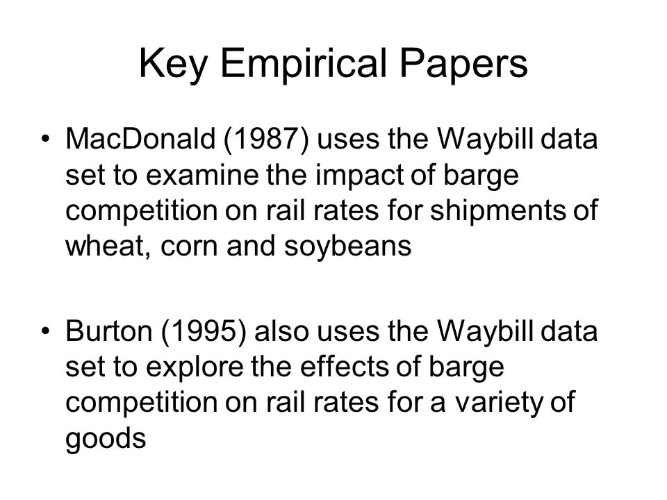 Key Empirical Papers